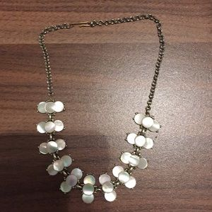 Vintage mother of pearl choker necklace